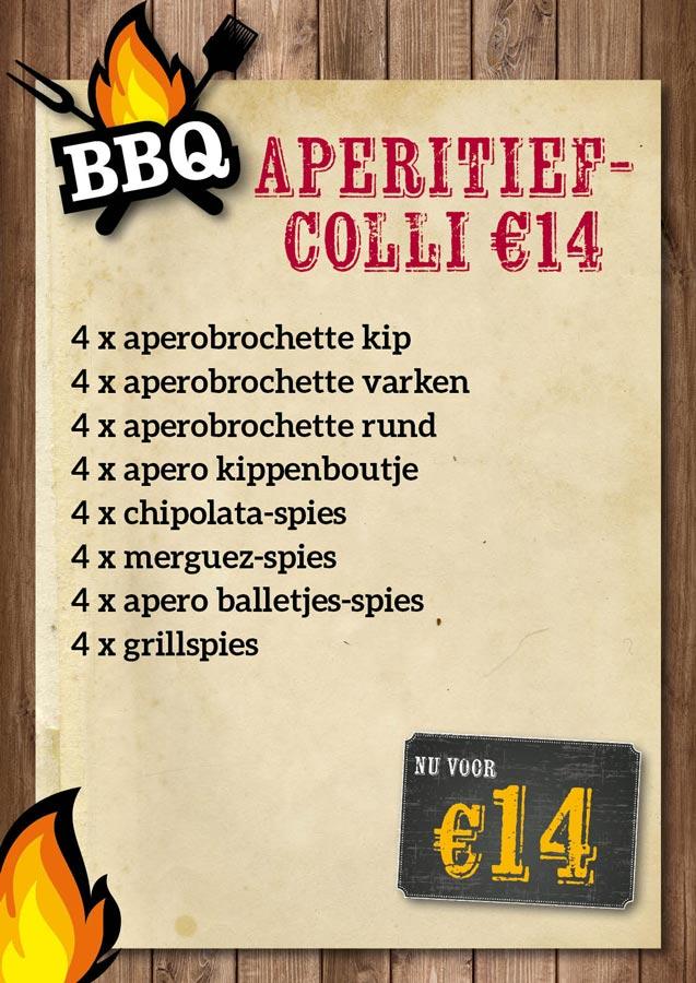 BBQ Aperitiefcolli €14 - De Kleine Bassin