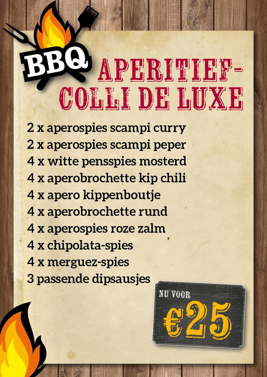 BBQ Aperitiefcolli de luxe €25 - De Kleine Bassin