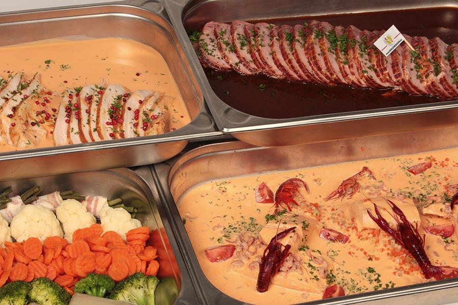 Warm buffet - 3 gerechten - De Kleine Bassin